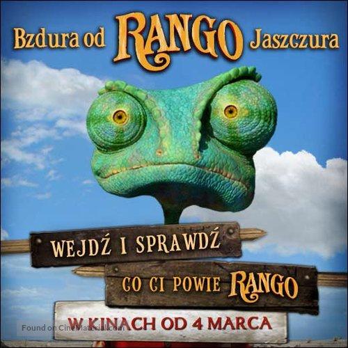 Rango 2011 Polish Movie Poster
