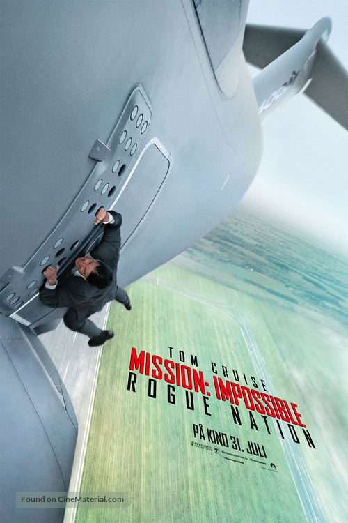 Mission: Impossible - Rogue Nation - Norwegian Movie Poster