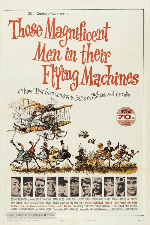 Those Magnificent Men In Their Flying Machines - Movie Poster