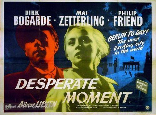 Desperate Moment - British Movie Poster
