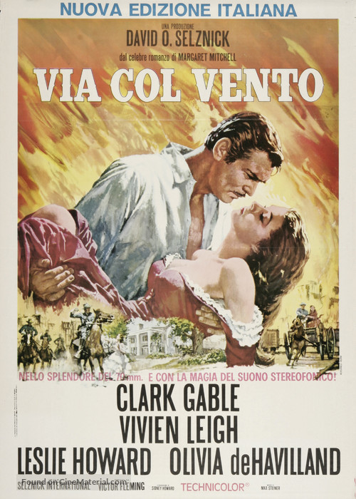 Gone with the Wind - Italian Movie Poster