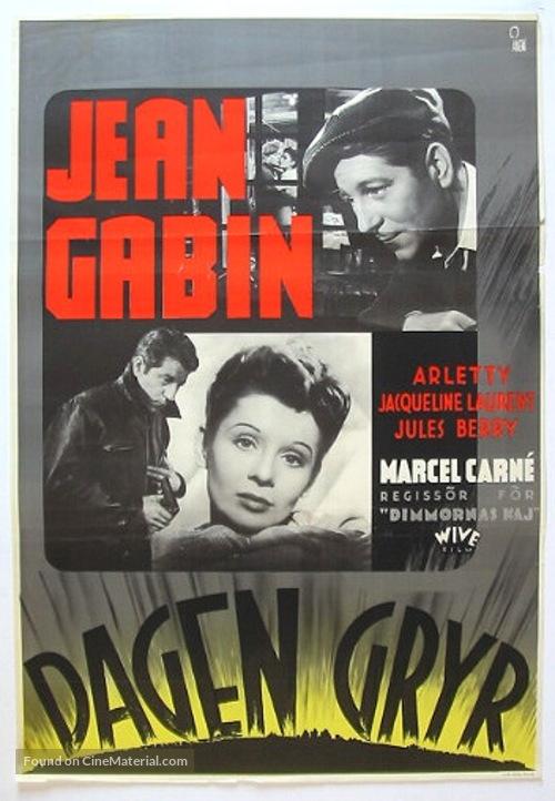 Le jour se lève - Swedish Movie Poster