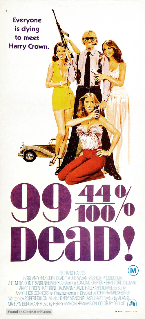 99 and 44/100% Dead - Australian Movie Poster