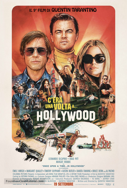 Once Upon a Time in Hollywood - Italian Movie Poster