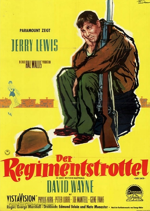 The Sad Sack - German Movie Poster