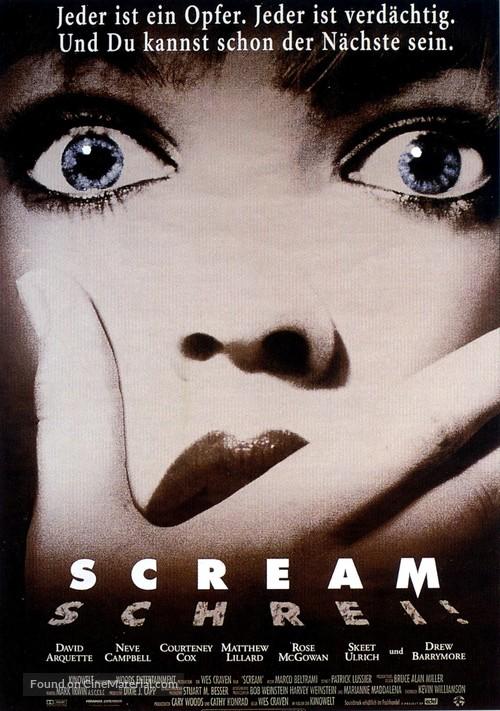 Scream - German Movie Poster