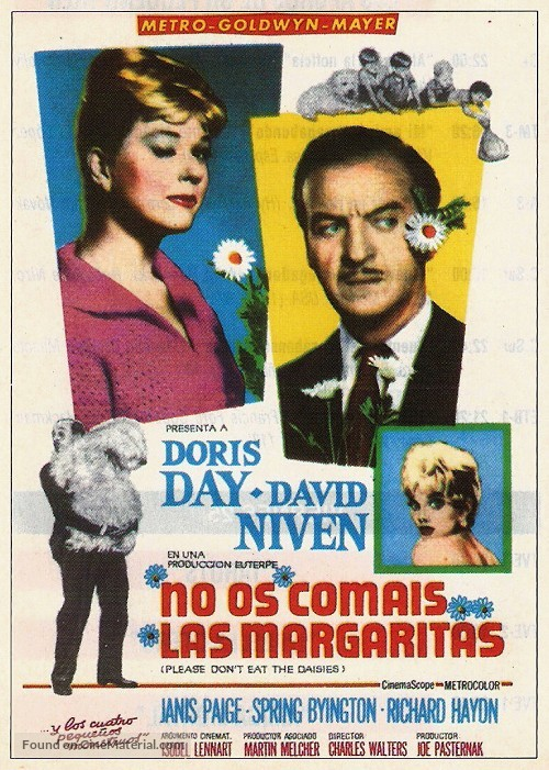 Please Don T Eat The Daisies 1960 Spanish Movie Poster