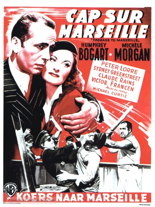 Passage to Marseille - Belgian Movie Poster