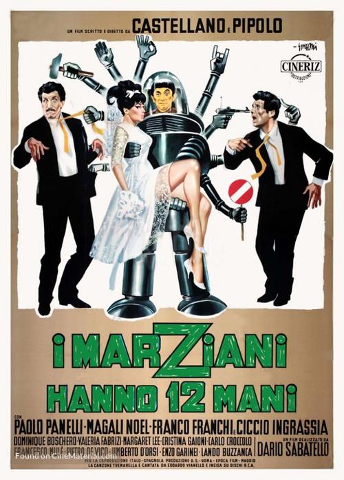 I marziani hanno dodici mani (1964) Italian movie poster
