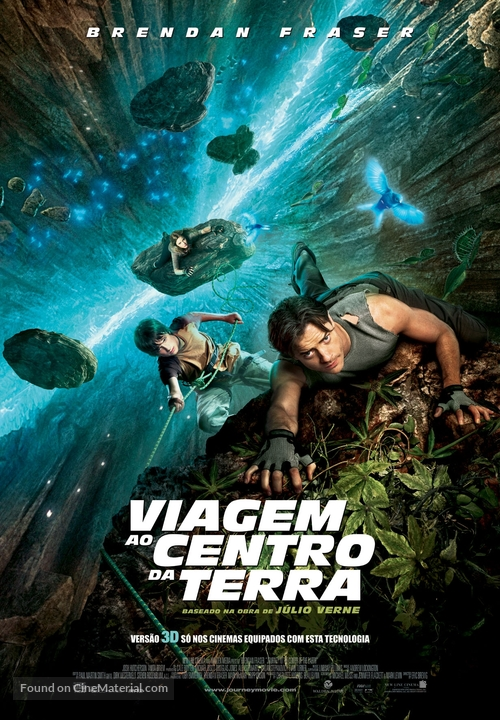 Journey to the Center of the Earth - Portuguese Movie Poster