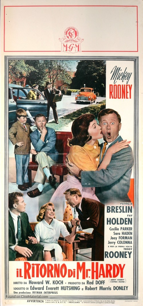 Andy Hardy Comes Home - Italian Movie Poster