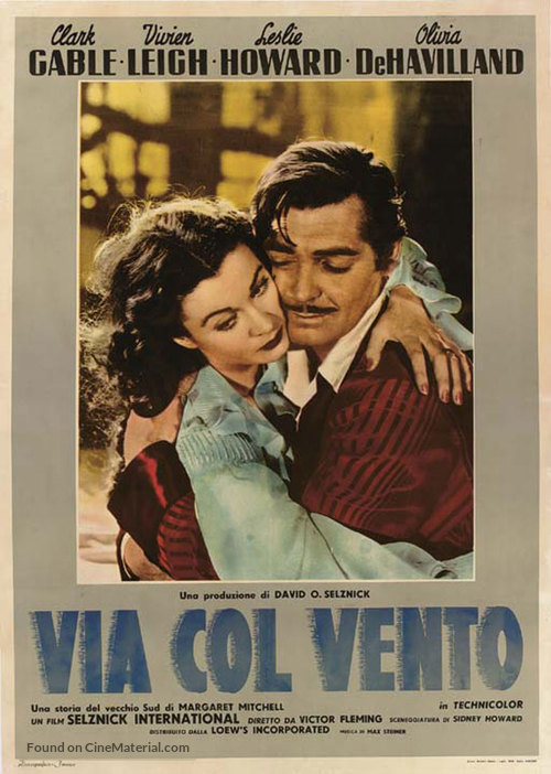 Gone with the Wind Italian movie poster