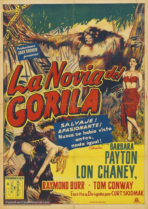 Bride of the Gorilla - Argentinian Movie Poster