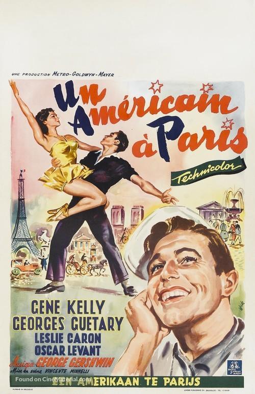 An American in Paris - Belgian Movie Poster
