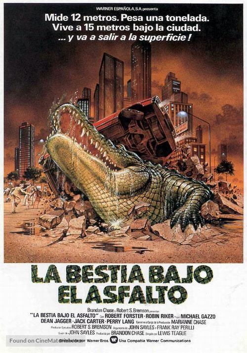 Alligator - Spanish Movie Poster