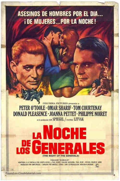 The Night of the Generals - Argentinian Movie Poster