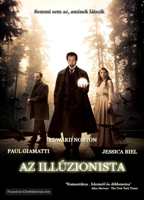 The Illusionist - Hungarian Movie Poster