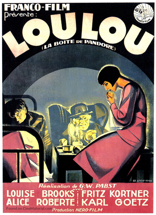 Die Büchse der Pandora - French Movie Poster