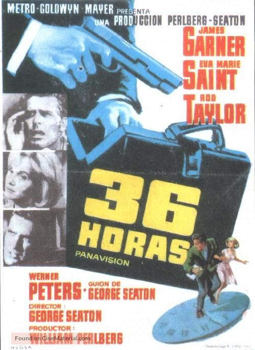 36 Hours - Spanish Movie Poster