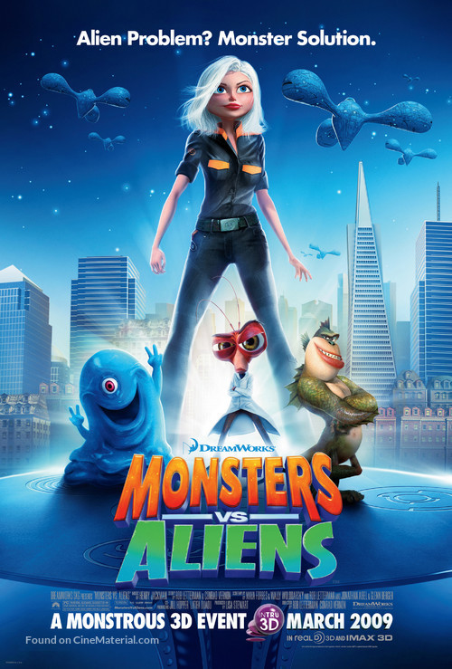 Monsters vs. Aliens - Movie Poster
