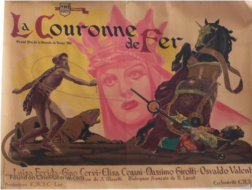 La corona di ferro - French Movie Poster