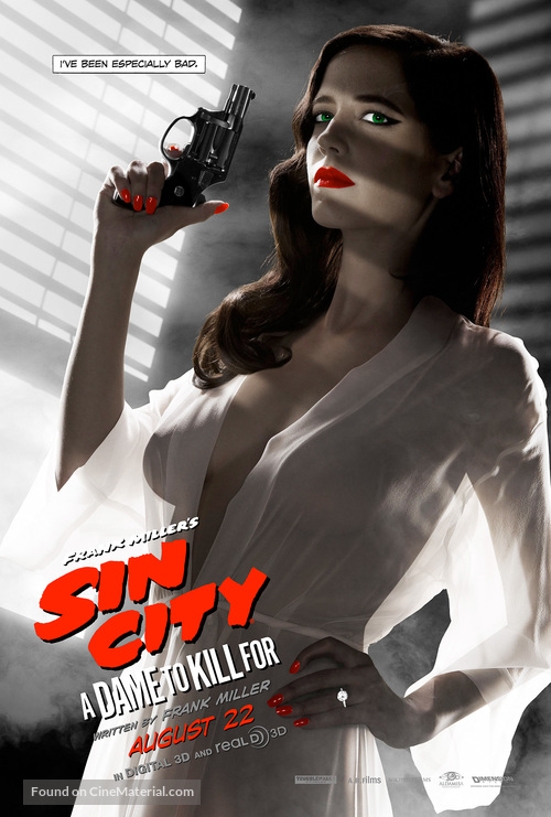 Sin City: A Dame to Kill For - Character movie poster