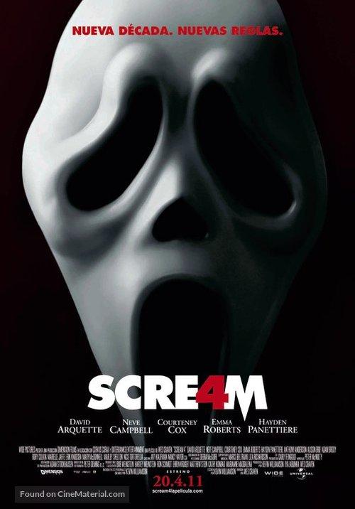 Scream 4 - Spanish Movie Poster