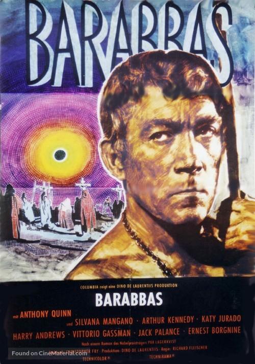 Barabbas vintage Anthony Quinn movie poster print