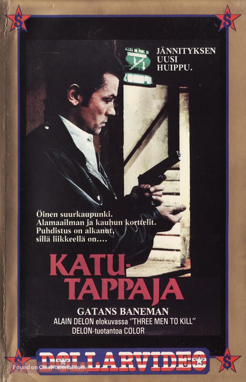 3 hommes à abattre - Finnish VHS movie cover