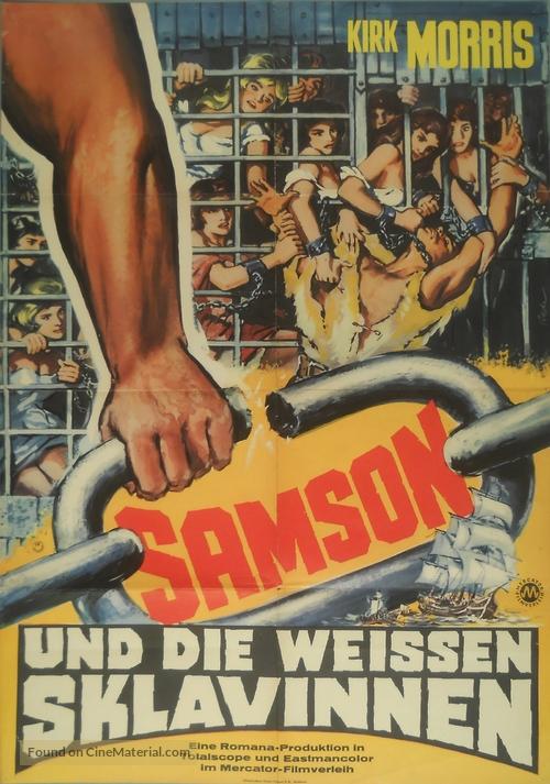 Sansone contro i pirati - German Movie Poster