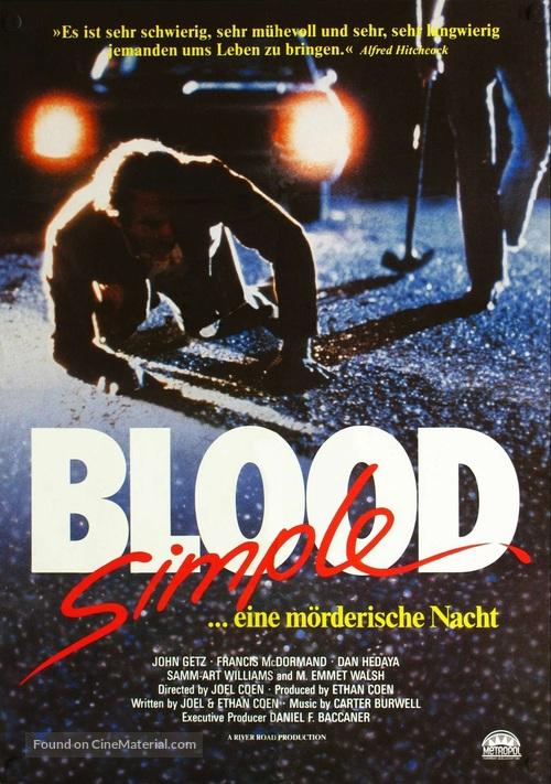 Blood Simple - German Movie Poster