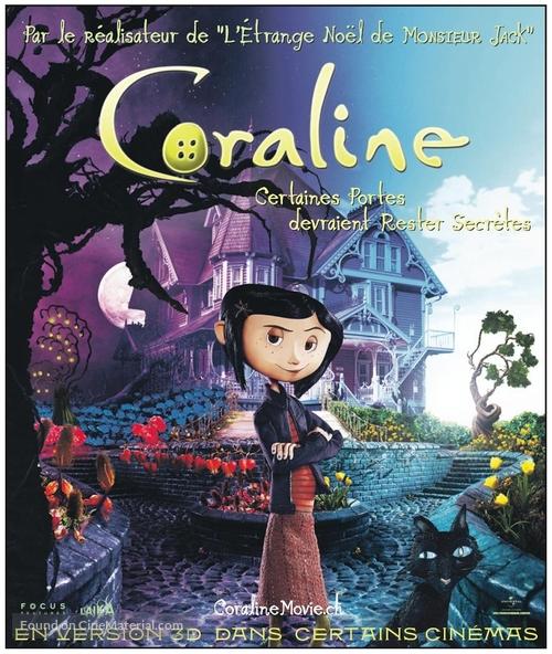 Coraline - Swiss Movie Poster