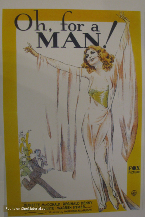 Oh, for a Man! - poster