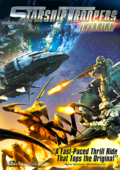 Starship Troopers: Invasion - DVD movie cover