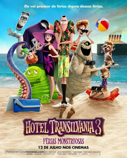 Hotel Transylvania 3 - Brazilian Movie Poster