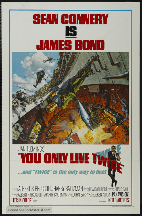You Only Live Twice - Movie Poster