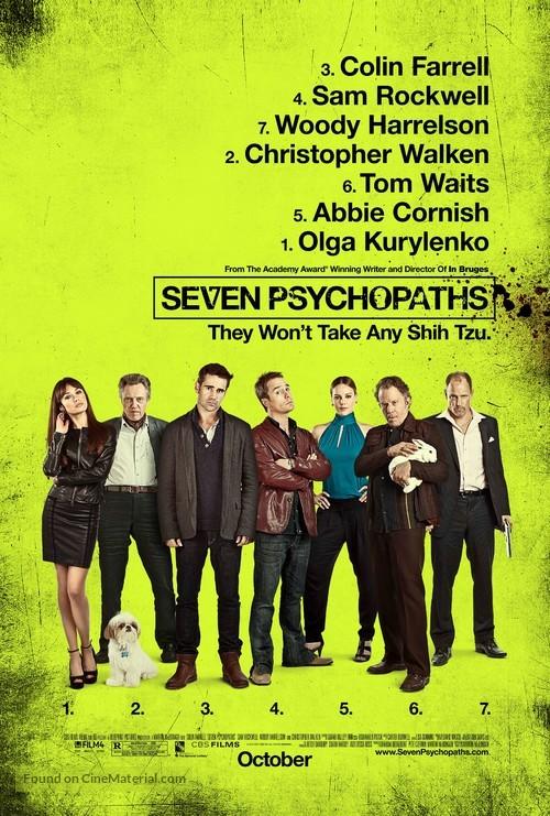 Seven Psychopaths - Movie Poster