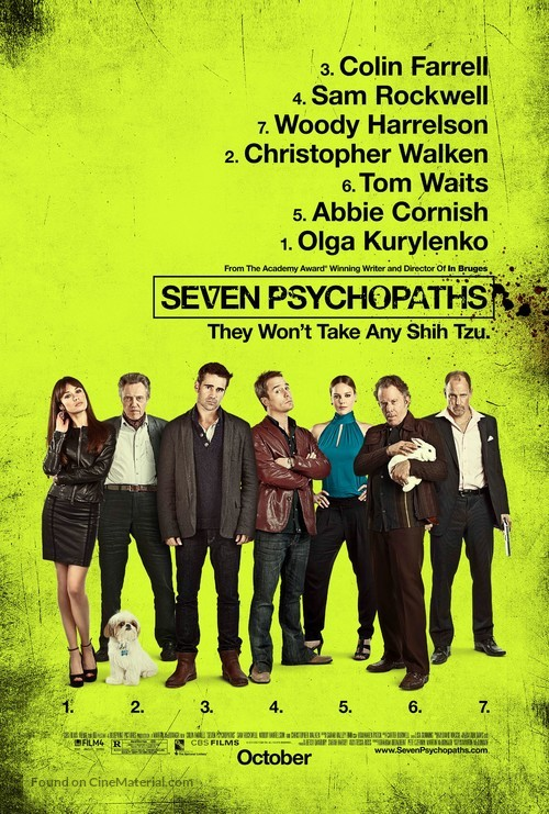 Seven Psychopaths - Movie Poster