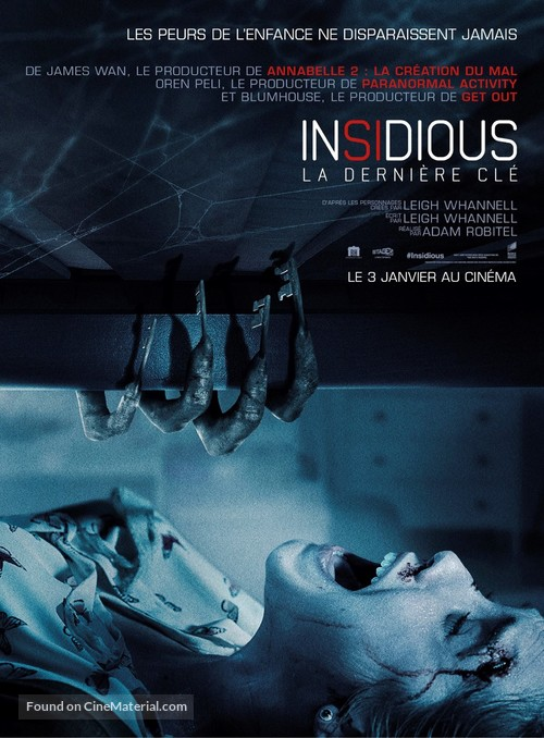 Insidious the last key french movie poster for Miroir film horreur