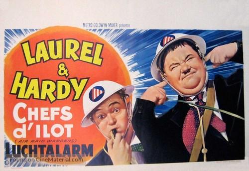 Air Raid Wardens - Belgian Movie Poster