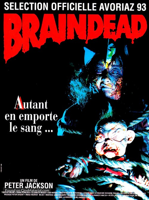 Braindead - French Movie Poster