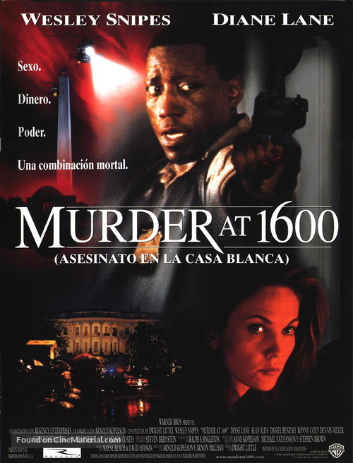 Murder At 1600 - Spanish Movie Poster