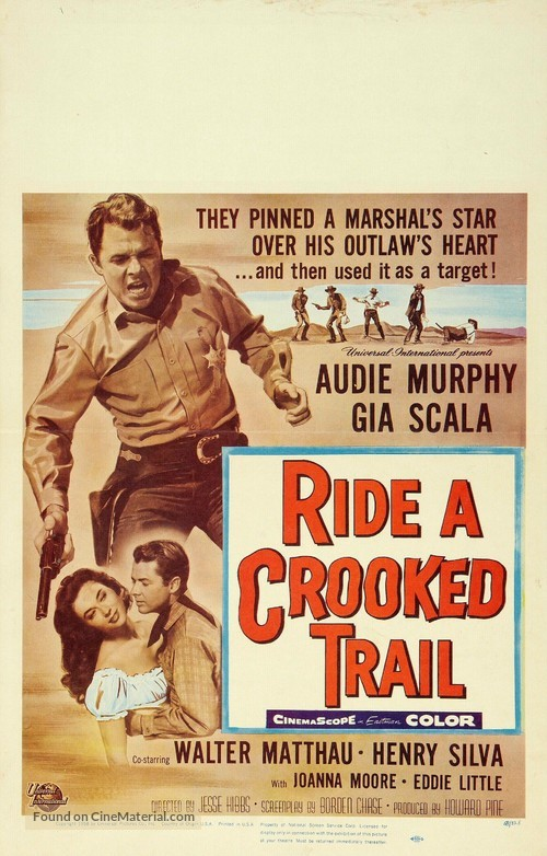 Ride A Crooked Trail 1958 Movie Poster