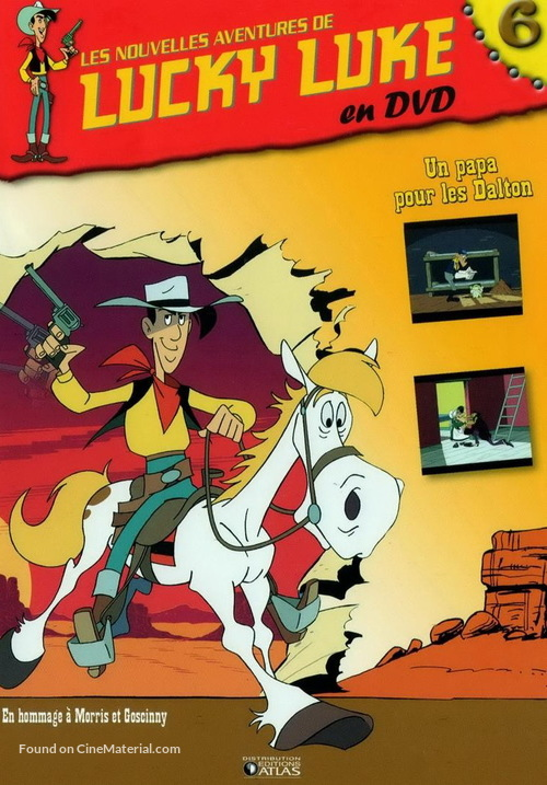 """Les nouvelles aventures de Lucky Luke"" - French Movie Cover"