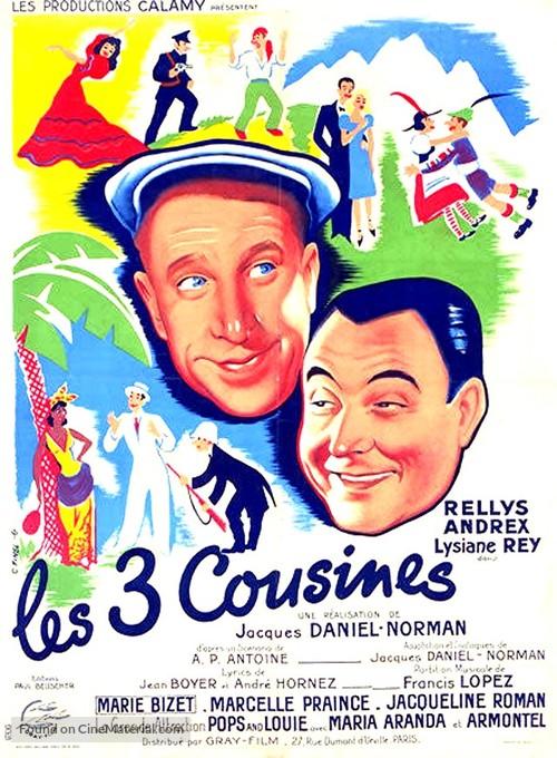 Les trois cousines - French Movie Poster
