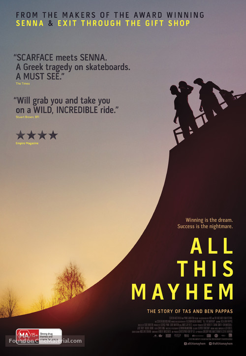 All This Mayhem - Australian Movie Poster