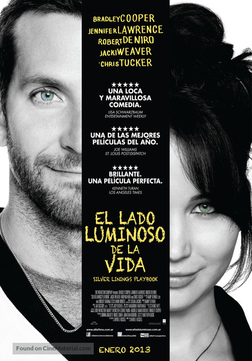 Silver Linings Playbook - Argentinian Movie Poster