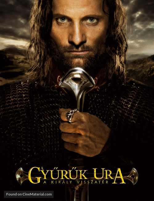 The Lord of the Rings: The Return of the King - Hungarian Movie Poster