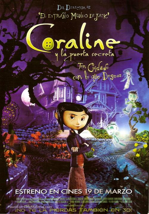 Coraline - Argentinian Movie Poster