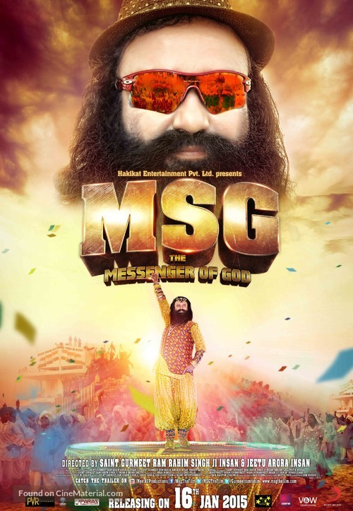 MSG: The Messenger of God - Indian Movie Poster